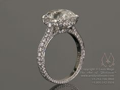 Can't have a dream wedding without a dream ring!  Antique cushion cut engagement ring by Leon Mege