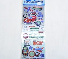 Boy's Toys Sticker Embellishments on sale for Craft Online, Creative Crafts, Toys For Boys, Embellishments, Paradise, Scrapbook, Stickers, Ornaments, Crafts