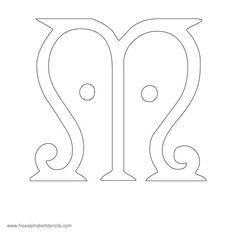 Arts n Crafts Alphabet Stencil M