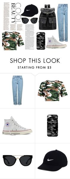 """cool beuty"" by alexandramaticiuc-1 on Polyvore featuring Topshop, Converse, Mr. Gugu & Miss Go, Quay and NIKE"