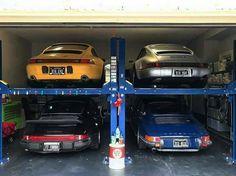 One Enviable Garage Porsche Porsche 911 Porsche Porsche Carrera, Porsche 964, Porsche Cars, Porsche 2017, Porsche Classic, 996 4s, Cool Garages, Vintage Porsche, Car Storage