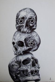 Twisted Art For Twisted Minds — See no Evil - Hear no Evil - Speak no Evil by. Twisted Art For Twisted Minds — See no Evil - Hear no Evil - Speak no Evil by. Evil Skull Tattoo, Evil Tattoos, Clown Tattoo, Skull Tattoo Design, Skull Tattoos, Body Art Tattoos, Sleeve Tattoos, Tattoo Designs, Tatoos