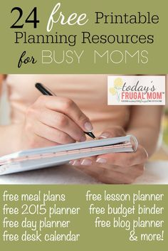 24 Free Printable Planning Resources For Busy Moms :: todaysfrugalmom.com