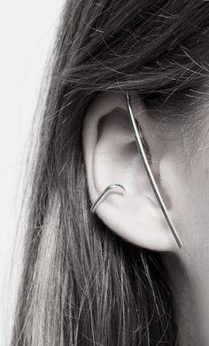 Vibe Harsløf | EarWrap Body Jewelry, Jewelry Art, Jewelry Design, Fashion Accessories, Fashion Jewelry, Jewelry Accessories, Minimal Jewelry, Unique Jewelry, Ear Cuff Earrings