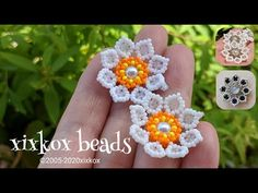 Seed Bead Earrings, Beaded Earrings, Crochet Earrings, Seed Beads, Beaded Flowers Patterns, Beading Patterns, Bracelet Patterns, Beading Techniques, Beading Tutorials