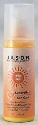 Jason Natural Products Sunbrellas Facial Block SPF 20 4.5 Oz by Jason. $7.99. Jason Natural Products Sunbrellas Facial Block. Jason Natural Products Sunbrellas Facial Block SPF 20 4.5 Oz