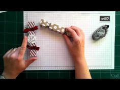 Stampin' Up! Christmas Crackers Using The Envelope Punch Board - YouTube