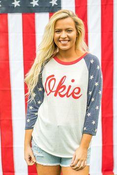Okie stars baseball t-shirt from Lush Fashion Lounge