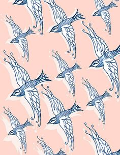 Pattern / swallow by samlovesherdog Encontrado