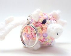 """Flying Pig Cute Plush Keychain """"When Pigs Fly"""""""