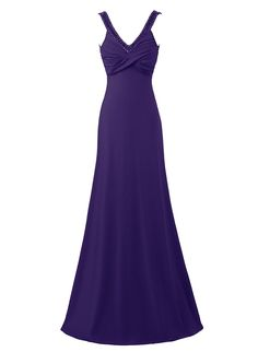Kileyi Women's Long V Neck Ruched Rhinestones Empire Mermaid Evening Prom Dress ** Learn more by visiting the image link. (This is an affiliate link and I receive a commission for the sales)