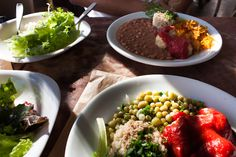 "Typical brazilian lunch - all vegan @ ""Vegan Vegan"", Rio de Janeiro, Brazil"