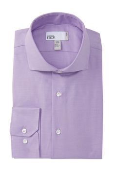 4e424b17 16.5x36-37 Solid Twill Trim Fit Dress Shirt by Nordstrom Rack on  @nordstrom_rack