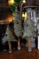 Primitive folk art tree make do's.