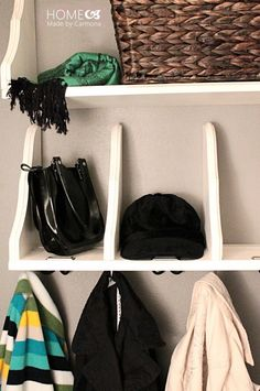 How to Organize Your Entryway: Flipped Shelves| thegoodstuff