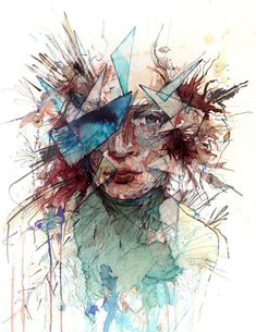 Portraits Drawn with Tea, Vodka, Whiskey and Ink by Carne Griffiths 1