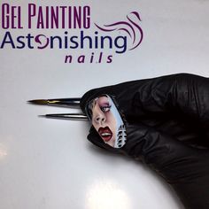 Face gel painting nail art