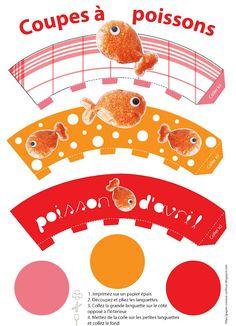 Coupelles poissons d'Avril (à imprimer)
