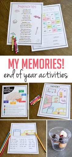 Looking for some FUN ways to keep your students engaged at the end of the year?! These themed activities have students learning and reviewing up until that last day all while sharing some of their favorite memories with the class!