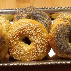 We have had so many amazing comments about how great these homemade bagels come out - now it's your turn Mexican Dessert Recipes, Breakfast Recipes, Dinner Recipes, Jewish Recipes, How To Make Bagels, Bread Recipes, Cooking Recipes, Vegetarian Recipes, Crack Crackers