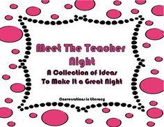 Conversations in Literacy: Meet the Teacher Night Back To School Night, School Fun, School Stuff, Middle School, School Ideas, Kindergarten Lessons, Kindergarten Classroom, Classroom Ideas, Apple Classroom