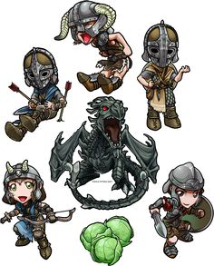 Skyrim Cuties by *ghostfire on deviantART