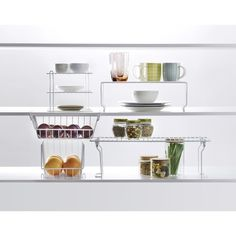 Place this foldable shelf in your kitchen to easily access sauces, spices or seasoning while cooking. Homemaking, Pantry, Wire, Shelves, Kitchen, Sauces, Furniture, Home Decor, Pantry Room