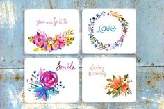 Big watercolor floral collection - Illustrations
