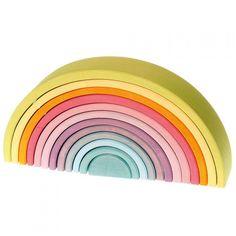 grimm's regenboog stapeltoren pastel12 bogen 36 cm 10673 | ilovespeelgoed.nl