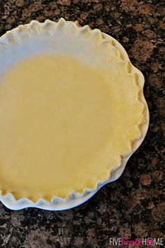 Fool-Proof Flaky Butter Pie Crust   {Five Heart Home} *want to try a crust with butter rather than shortening.