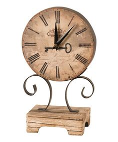 Take a look at this Beige Standing Clock by Inspire Your Style: Home Décor on #zulily today!