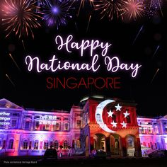Happy 55th National Day Singapore Island, Printing Companies, Ethereal, Neon Signs, Happy, Prints, Ser Feliz, Being Happy