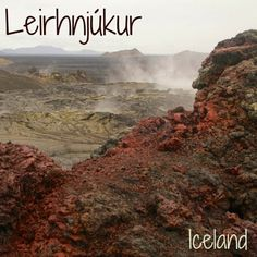 Travel Guide Iceland: photos and information to plan your visit to Leirhnjukur, a geothermal area with fuming lava