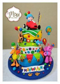 Toddler Boy Birthday, Boys First Birthday Cake, Happy Birthday Kids, Birthday Parties, Bday Girl, Monster Inc Birthday, Winnie The Pooh Cake, Circus Cakes, Circus Wedding