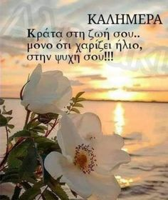 Greek Language, Good Morning, Powerful Quotes, Pictures, Inspiring Sayings, Bonjour, Buongiorno