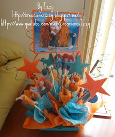 July 5th, Ideas Para, Centerpieces, Party, Painting, Brave Merida, Sweet 15, Doll, Princess Sofia