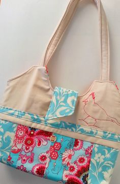 Pretty Strip-Quilted Handbag - PDF Sewing Pattern from AggieRay Designs