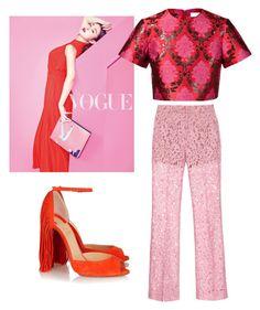 like it by nansylovesfashion on Polyvore featuring polyvore fashion style Mary Katrantzou Gucci Christian Louboutin clothing