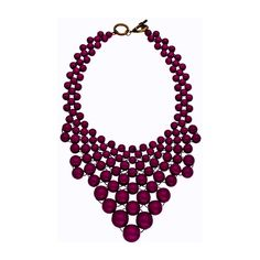 Blu Bijoux Graduated Bead Bib Necklace ($30) ❤ liked on Polyvore
