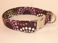 Feeling Groovy Collar - New, from Swanky Pet! Purple & green retro dog collar.