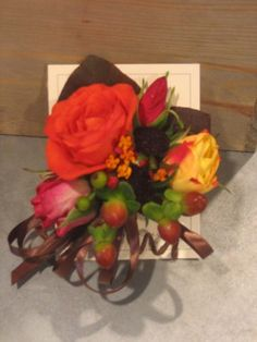 fall corsage