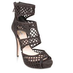 Miumiu Women's Designer Shoes Black Suede Cut-Out Platform Sandals | Designer Womens Shoes | Scoop.it