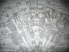 HARLEY DAVIDSON SHOVELhead Engine BLUEPRINT FLH FX FXR