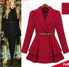 Morpheus Boutique  - Red Trendy Long Sleeve Wool Celebrity Belted Pleated Coat, CA$153.83 (http://morpheusboutique.com/red-trendy-long-sleeve-wool-celebrity-belted-pleated-coat/)
