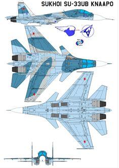 Sukhoi Su-33UB KnAAPO by bagera3005.deviantart.com on @deviantART