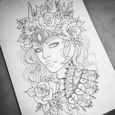 67 Super Ideas For Tattoo Girl Traditional Roses Tattoo Sketches, Tattoo Drawings, Drawing Sketches, Art Drawings, 3d Tattoos, Body Art Tattoos, Girl Tattoos, Traditional Roses, Traditional Tattoo