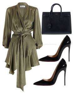 """Untitled #204"" by itsmsfashionista on Polyvore featuring Christian Louboutin and Yves Saint Laurent"