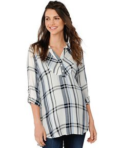 d2a126e91414d A Pea in the Pod Maternity Plaid Button-Front Blouse Women - Maternity -  Macy s