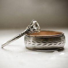 Refreshingly unique men's wedding ring
