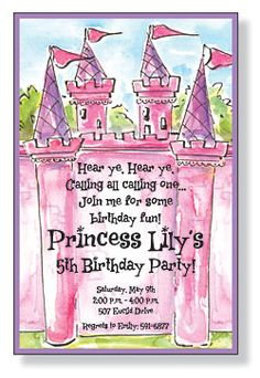 good wording for princess party invitations